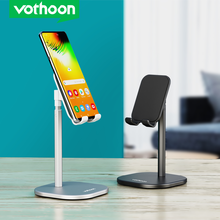 Vothoon Mobile Phone Holder For iPhone 12 Pro XS Max iPad pro Adjustable Metal Desktop Phone Stand For Samsung Xiaomi Tablet