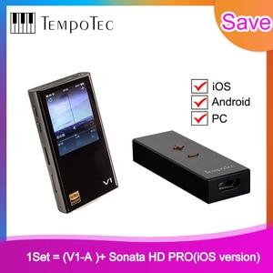 Image 1 - V1 A + sonate HD PRO,TempoTec,HIFI PCM & DSD 256 prise en charge du lecteur Bluetooth LDAC AAC APTX entrée et sortie USB DAC pour PC avec ASIO ak4377bce