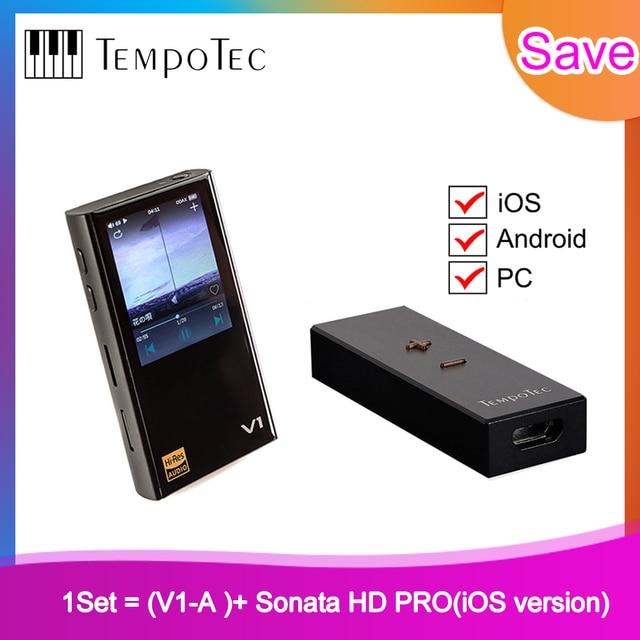 V1 A + sonate HD PRO,TempoTec,HIFI PCM & DSD 256 prise en charge du lecteur Bluetooth LDAC AAC APTX entrée et sortie USB DAC pour PC avec ASIO ak4377bce