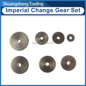 7 sztuk Imperial zmień zestaw narzędzi dla WM210V tokarka calowy zestaw narzędzi wątku tanie i dobre opinie Ostrogi Hobbing STEEL Standardowy Jodełkę biegów