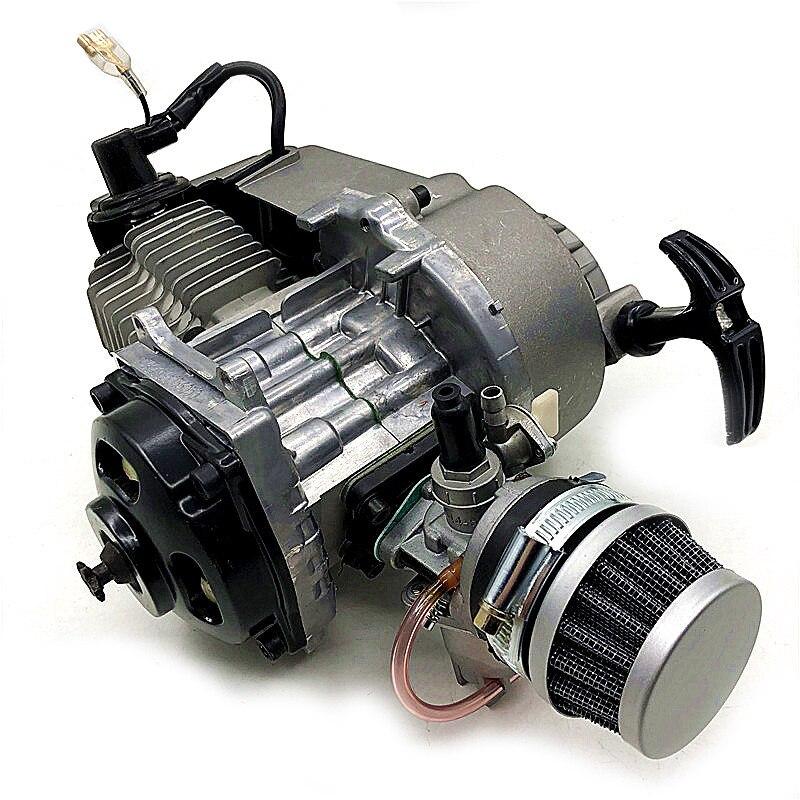 2 tiempos de arranque por cuerda Motor de transmisión Motor filtro de aire Mini bolsillo Pit Quad Dirt Bike ATV 4 ruedas