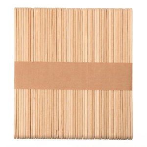 Image 3 - Shellhard 50pcs Disposable Tongue Depressors Wooden Hair Removal Tattoo Waxing Stick Tongue For Beauty Tools 114mm x 10mm x 2mm