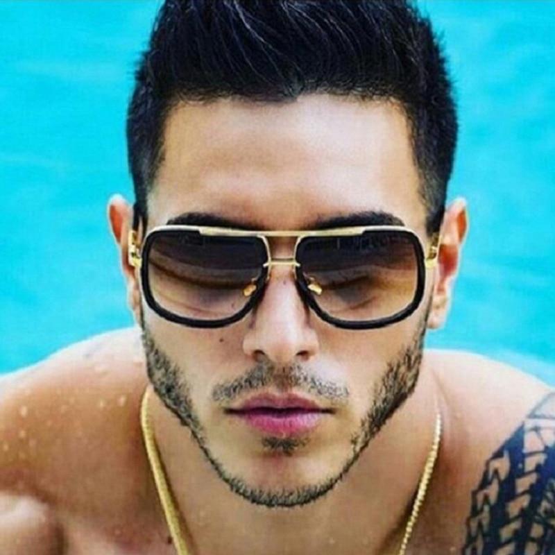 luxury Fashion Tony Stark Style for women Sunglasses Men Square Brand Design Sun Glasses Oculos Retro male 4