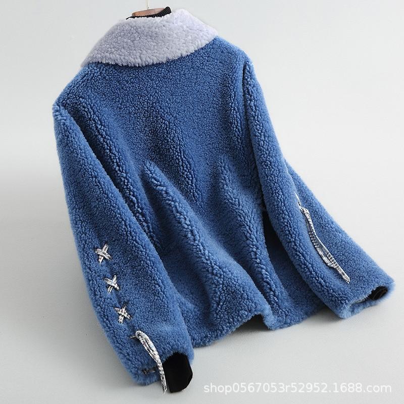Fur Wool Real Coat Women Short Sheep Shearing Autumn Winter Jacket Korean Coats And Jackets Women 2020 868527 KJ2633 S S
