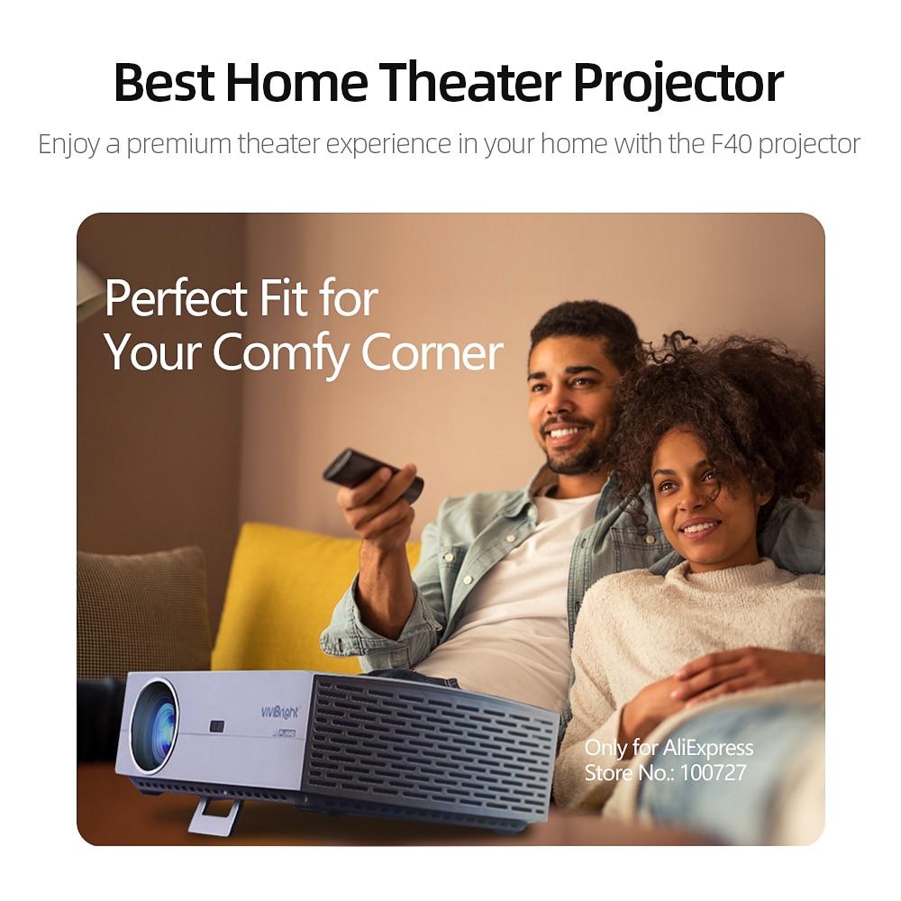 Image 5 - Projektor VIVIBright Real Full HD 1080P F40/UP  Obsługuje Bluetooth 3D, AC3, ekran lustrzany HDMI, kino domowe, TV Box opcjonalnieProjektory LCD   -