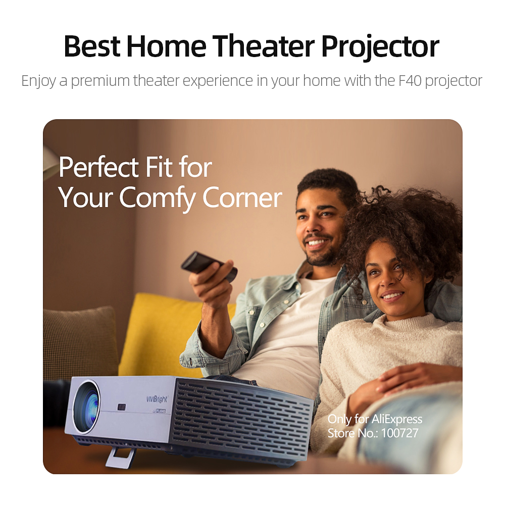 Image 5 - Vivibright real completo hd 1080 p projetor f40/up  suporta bluetooth 3d, ac3, tela de espelho hdmi, cinema em casa, caixa de tv opcionalProjetores LCD   -