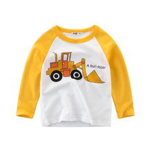 2019 Autumn Cartoon Style Long Sleeve Children T-shirts Girls & Boys Cotton Tops Tees Clothes Kids Sweatshirts For Boys s kids bing bunny cartoon print hoodies coats for boys girls rabbit long sleeves hoody sweatshirts for children costumes