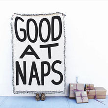 Good at naps плед одеяло для спинки полотенце заднего фона стены