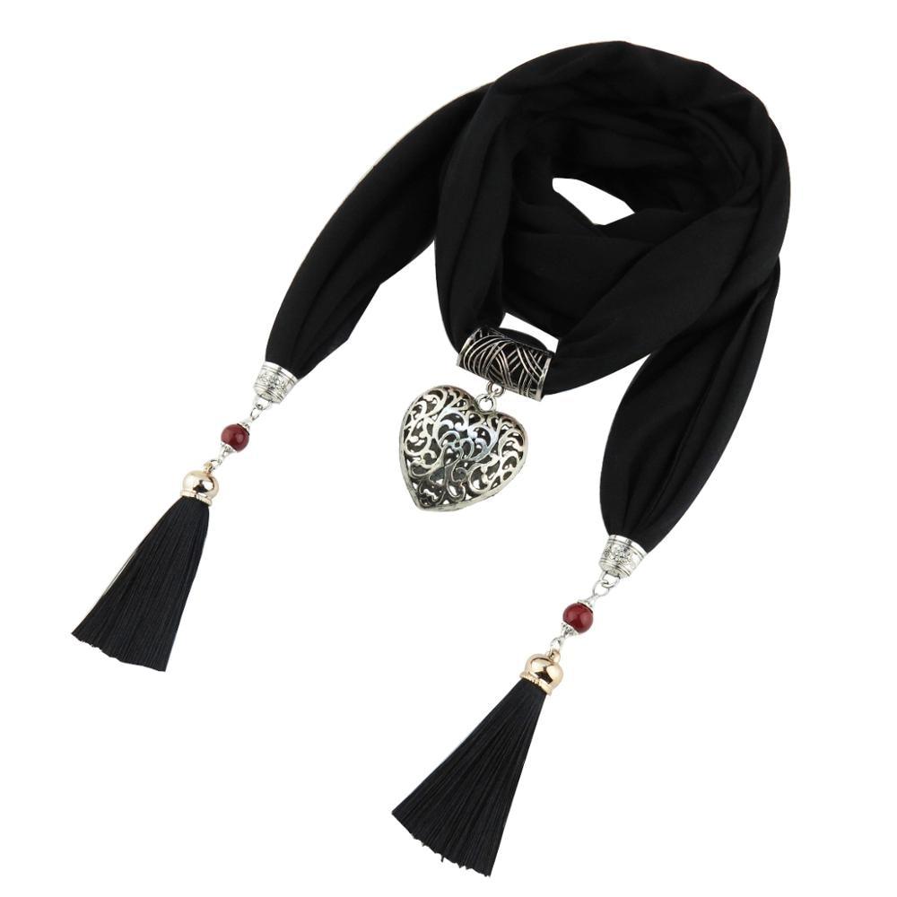 Jzhifiyer mez medál szerelem ékszer sál nyaklánc kendő pamut - Ruházati kiegészítők