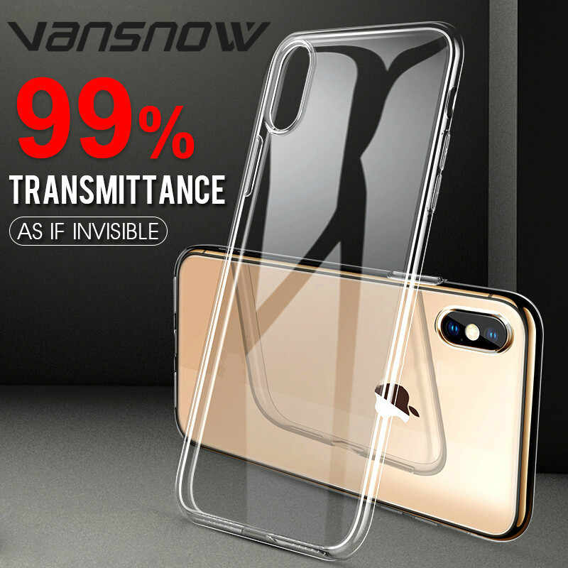 Vansnow Hi-Tech 99%Transmittance Invisible Silicone Soft TPU Phone Cases Cover for IPhone XR XS Max X 8 7 6 S 6S Plus