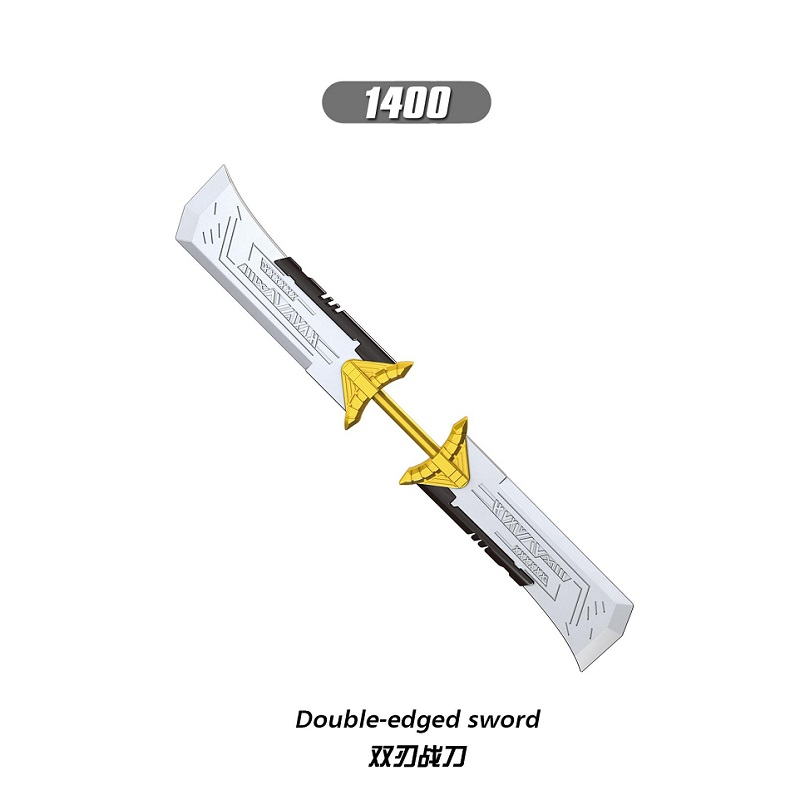 10Pcs Sale Building Blocks Super Heroes Double-edged Sword Wand Of Mind Figures For Children Collection Toys XH 1400 XH 1401