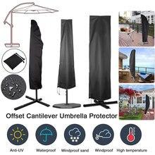 Sonnenschirm Abdeckung Wasserdichte Sonnenschirm Abdeckung mit Zipper Anti Staub Wind und Regen für Cantilever Regenschirme