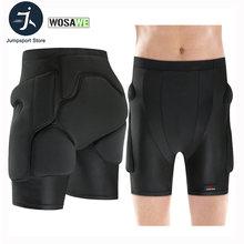 Wosawe men woman outdoor skating protection hip padded shorts