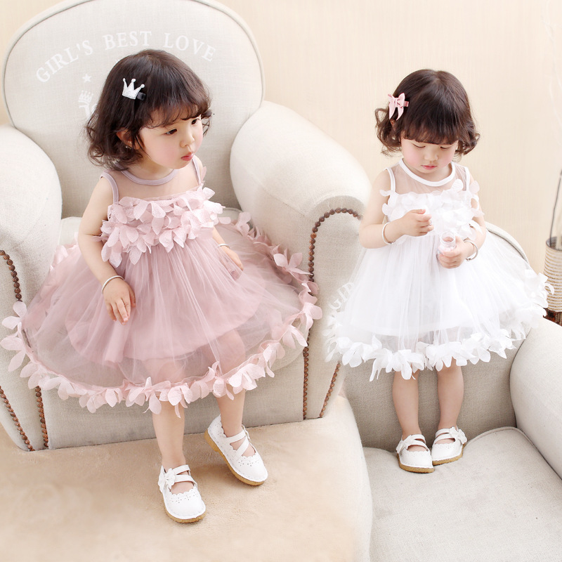 Ha2822b861ef84350b8cff20b80d70853p Girls Dress 2018 Summer Explosion Solid Color Denim Dress Cartoon Polka Dot Bow Cartoon Bunny Satchel Korean Baby Cute Dress