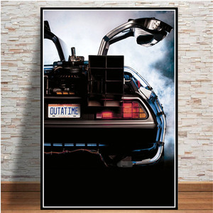Back to the Future Movie Poster Cool Car Posters Prints Cuadros Vintage Wall Art Picture Canvas Painting for Living Room Decor
