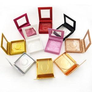 Image 3 - 20pcs wholesale false eyelashes packaging box fake 3d mink lashes boxes faux cils strip diamond magnetic case empty