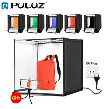 PULUZ Photo Studio 60cm Foldable Portable 2 White Light Photo Lightbox Studio Shooting Tent Box+3 Backgrounds Tabletop Shooting