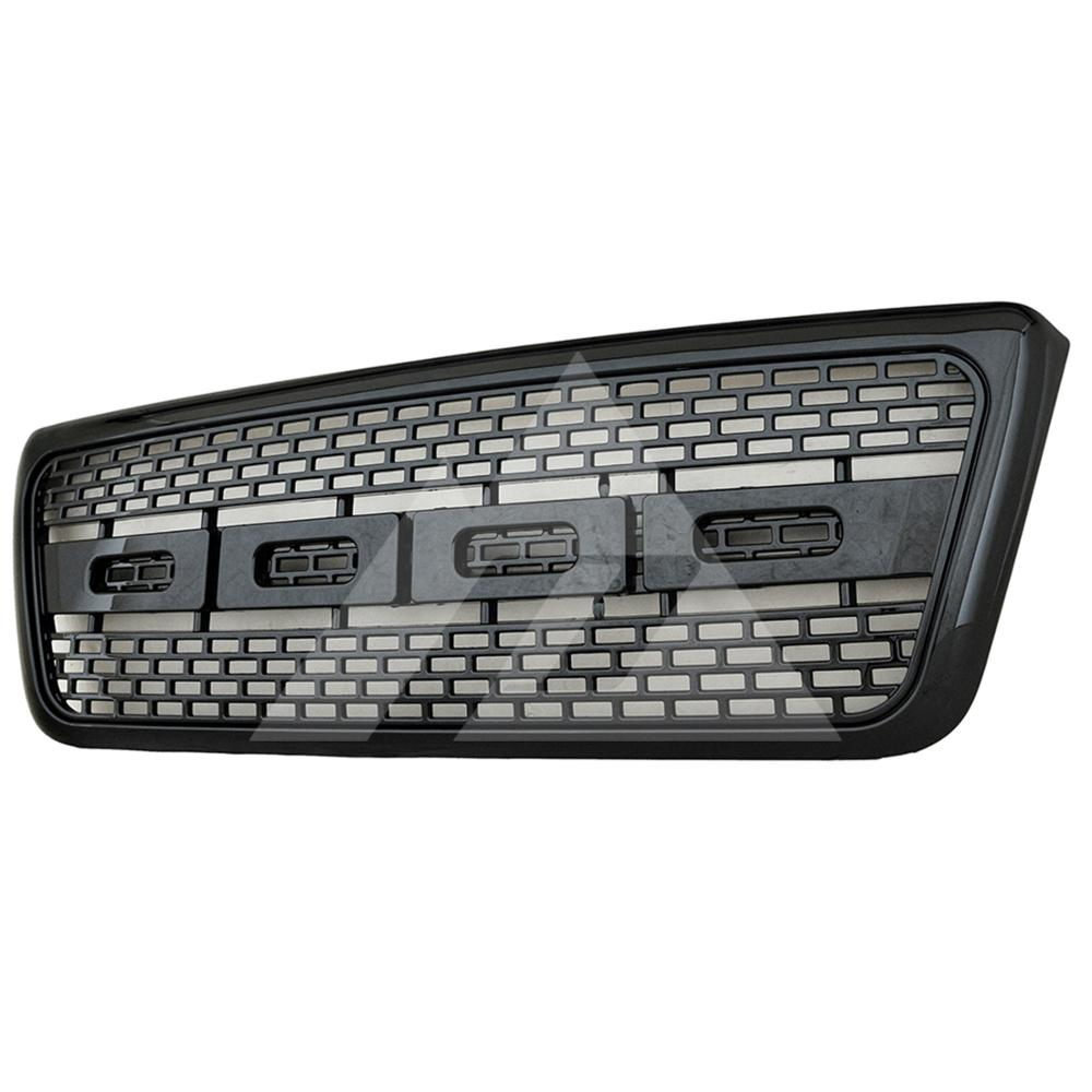 for 2004 2005 <font><b>2006</b></font> 2007 2008 <font><b>Ford</b></font> <font><b>F150</b></font> ABS Black Raptor Packaged Grille image