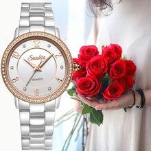 SUNKTA Womens Watches Top Brand Luxury Ceramic Watch Women Sport Sapphire Waterproof Wristwatch Ladies Reloj Mujer