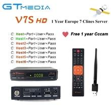 цена на Satellite TV Receiver Gtmedia V7S HD Full 1080P Receptor Support Europe Cline for Spain DVB-S2 Satellite Decoder Freesat V7 HD