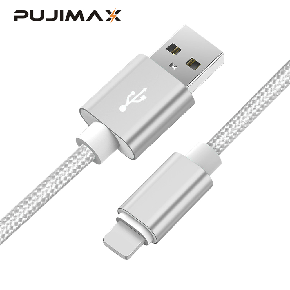 PUJIMAX 8 Pin to USB Cable Fast Charger Adapter USB Cable For iphone 7 6s iphone xs plus 5 5s ipad mini Mobile Phone Cables in Mobile Phone Cables from Cellphones Telecommunications