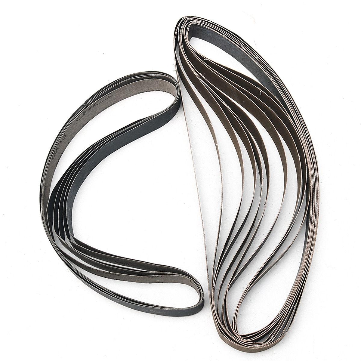 15pcs1x30 Sanding Sander Belts 600 800 1000 High Grit Polishing Aluminum Oxide