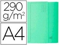 תת תיקיית קרטון עם שקית EXACOMPTA דין A4 ירוק 290 GR 50 יחידות