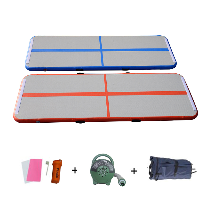 Air Track 4ft 7ft 10ft Airtrack Gymnastics Tumbling Mat Inflatable Tumble Track With Electric Air Pump For Home Use