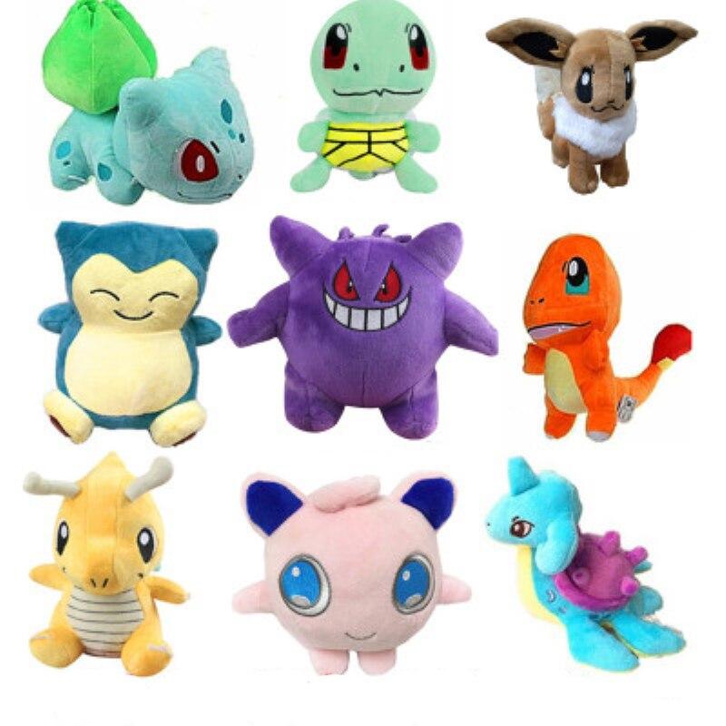 18 estilos takara tomy pokemon original pikachu squirtle hobby recheado anime boneca de pelúcia brinquedos para crianças natal presente evento