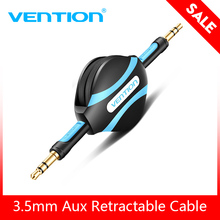 Vention Retractable Aux Cable 3.5mm Audio Cable Jack 3.5 Male Aux Cord For Car Stereo iPhone 8 Samsung S8 Headphone Speaker AUX