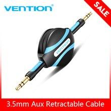 Vention câble Aux rétractable 3.5mm câble Audio Jack 3.5 mâle cordon Aux pour autoradio iPhone 8 Samsung S8 casque haut parleur AUX