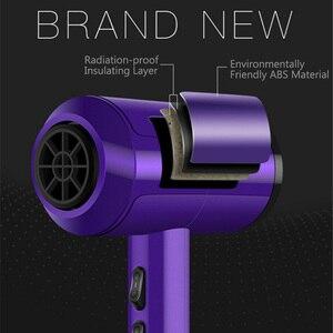 Image 2 - Secador de pelo profesional iónico de bajo ruido, viento frío/caliente, con cepillo, enchufe de 3200W, CA 220V