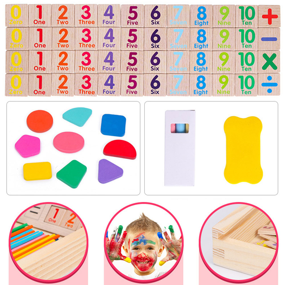 Multi-Function Colorful Bamboo Counting Sticks Mathematics Montessori Teaching Aids Counting Rod Kid Preschool Math Learning Toy
