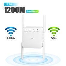 Répéteur wi-fi sans fil 5G, 1200Mbps, amplificateur de Signal Internet, Port Ethernet pour routeur Wlan/AP domestique