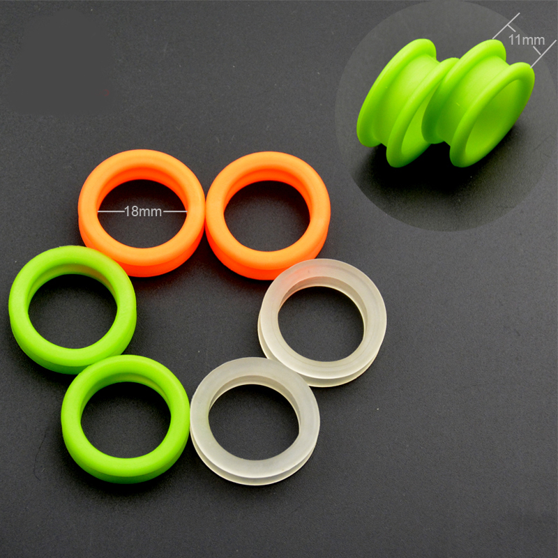 New 2pcs Hair Scissors Silicone Finger Rings For Any Scissors Inserts Scissors Accessories Handle Rings For Barber Shears