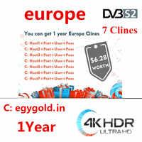 2019 ANNO NUOVO Full HD Cccams 7 lineas 1 ANNO Astra Hispasat DVB-S/S2 decodificador satellite servidor