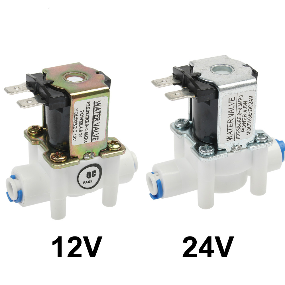 PQB NC Electric Solenoid Valve Magnetic DC 12V Water Air Inlet Flow Switch 1/4