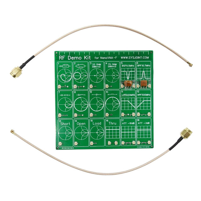 Attenuator Cable Filter Accessories Set Vector Network RF Demo Kit Tool Test Board Anaylzer Equipment For NanoVNA