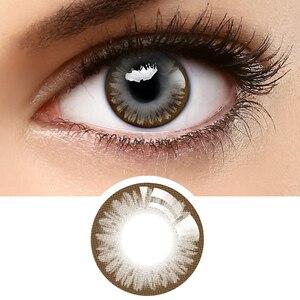 [Продвижение продаж] Бесплатная доставка Horien цветные контактные линзы 5 шт повседневные Одноразовые женские красивые зрачковые линзы для глаз вечерние в подарок