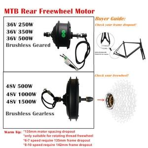 Image 5 - 36 V ou 48 V LCD8 couleur affichage vtt Ebike Kit de Conversion 250 W 350 W 500 W 1000 W moyeu moteur KT contrôleur levier de frein manette des gaz