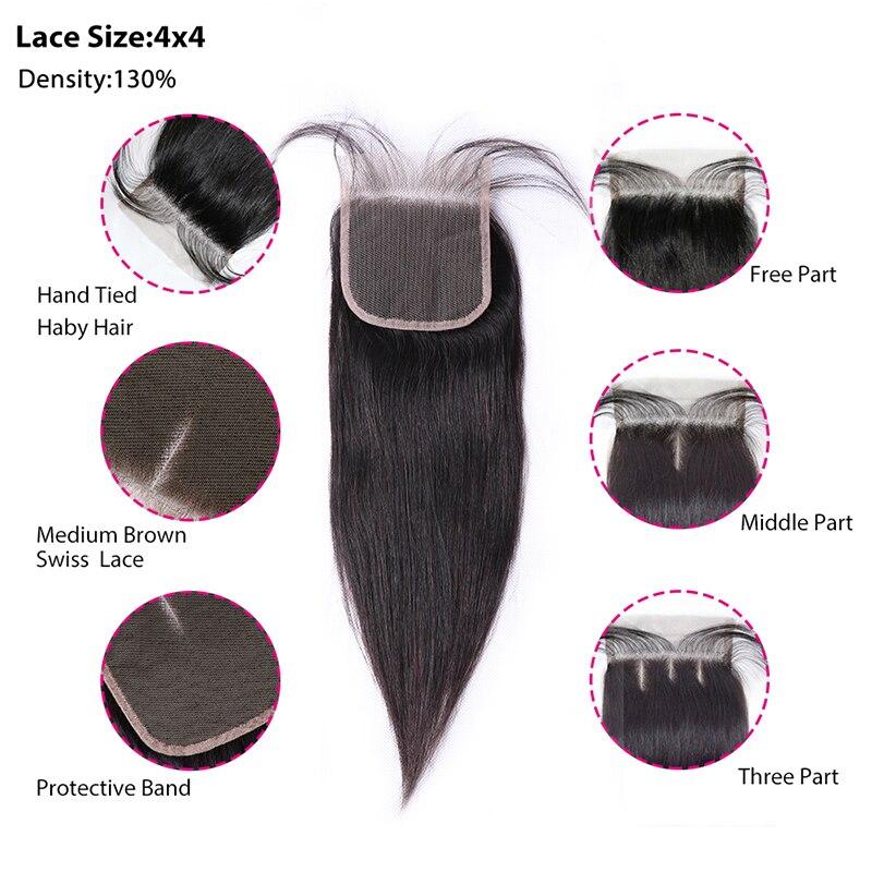 Ha2840e40f6ff48b5b1cddb15bc224760t [BY] Straight Hair Bundles With Closure Natural Human Hair 3 Bundles With Closure Brazilian Hair Weave Bundles 4x4 Swiss Lace