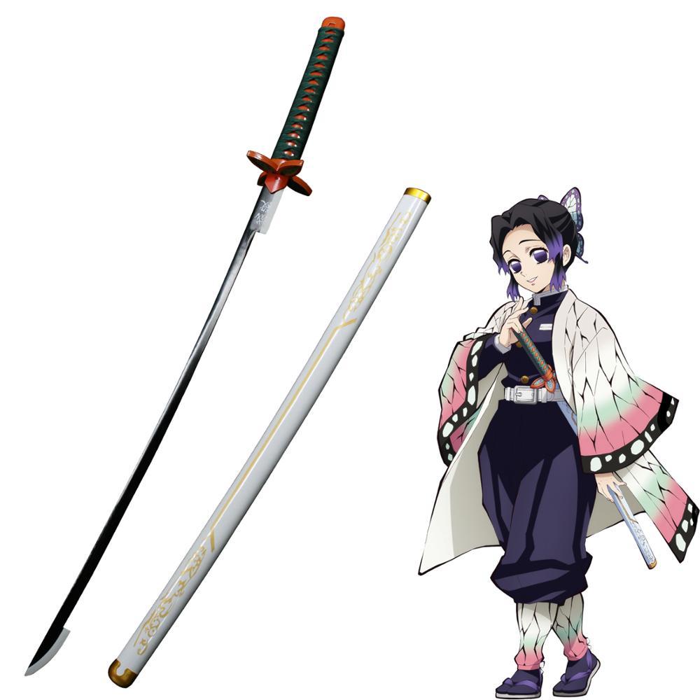 Demon Slayer: Kimetsu No Yaiba Japanese Anime Kochou Shinobu Cosplay Replica Sword Carbon Steel