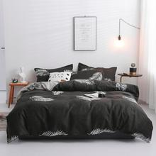 3/4pcs Modern Nordic  Bedding Set Reactive Printing polyester Bed Style home textile