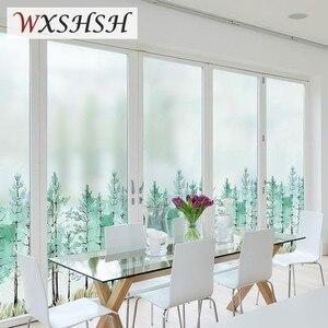 Заказной размер статическая пленка для окна леса декоративная частная наклейка матовое стекло для спальни ванной комнаты кухни гостиной