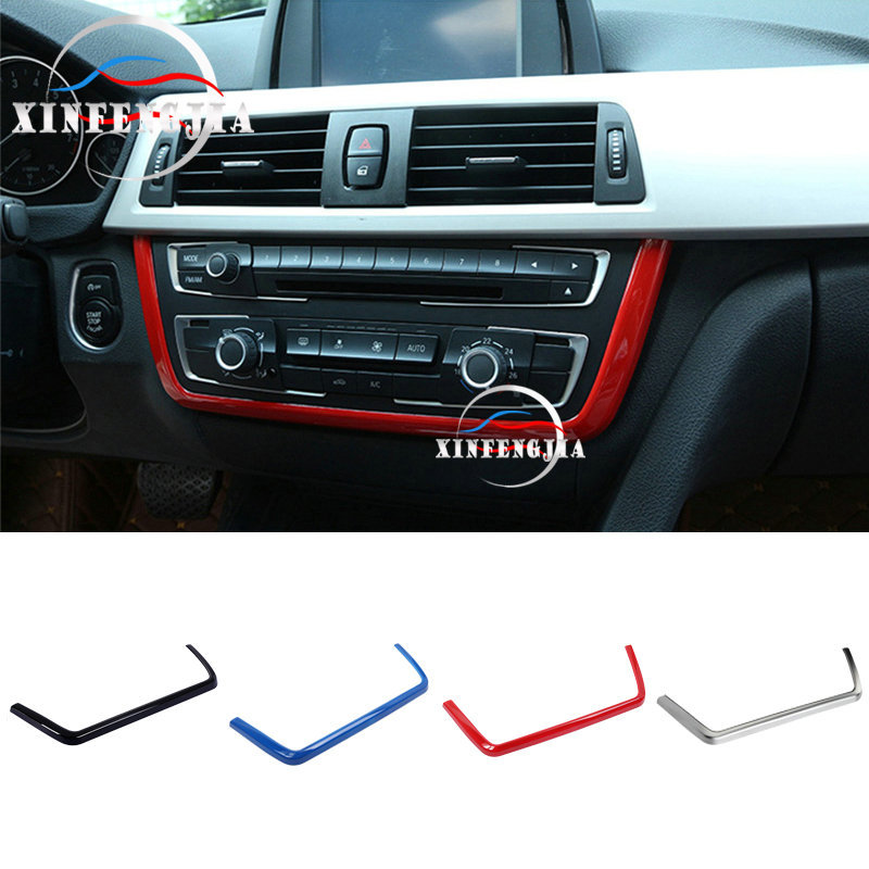 RED Center Multi-media Buttons Panel Cover Trim For BMW 3 4 Series 3GT F30 13-18