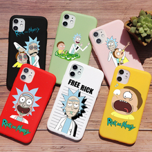 PUNQZY Rick And Morty Funny Cartoon Comic Meme Words For iPhone SE 2020 XR 11 PRO MAX XS 7 8PLUS Soft Matt Fundas Case