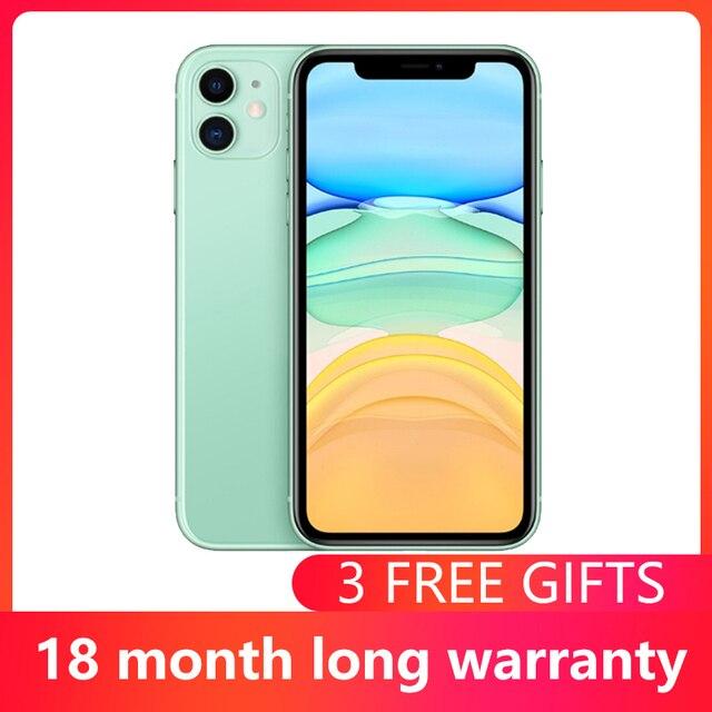 Used Unlocked Original iPhone 11 6.1 inch Full OLED Display  1 Sim Card 4G LTE Dual-camera Smart Phone 64/128/256GB ROM A13