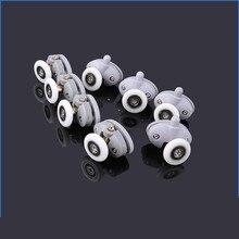 4pcs-8pcs/set New Oval 23mm 25mm ABS Nylon Single Pop Up Pulley Runner Wheel Shower Cabin Sliding Glass Door Rollers Hardware