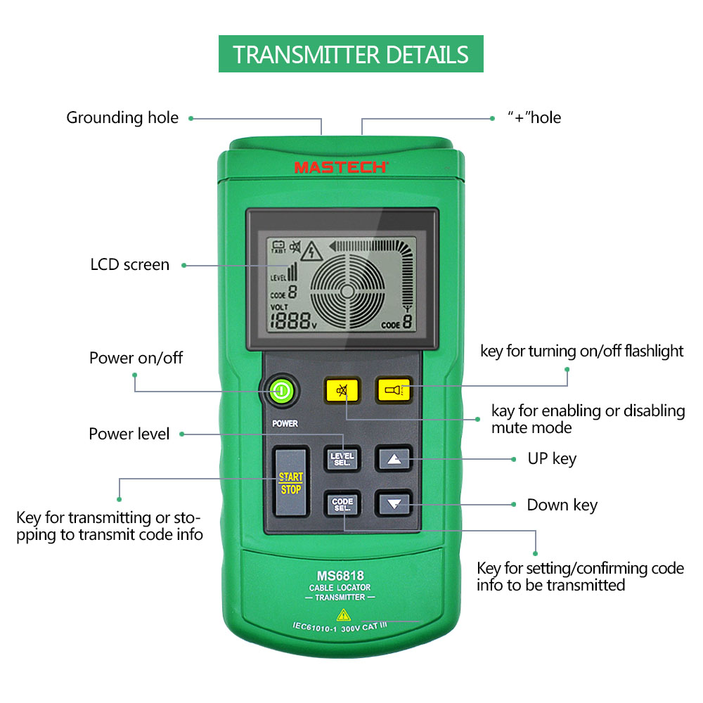 Image 4 - Mastech MS6818 LAN Network Cable Tester Phone Telephone Wire Tracker Pipe Locator Detector for Cat5 Cat5E Cat6 Cat6E RJ45 RJ11Networking Tools   -