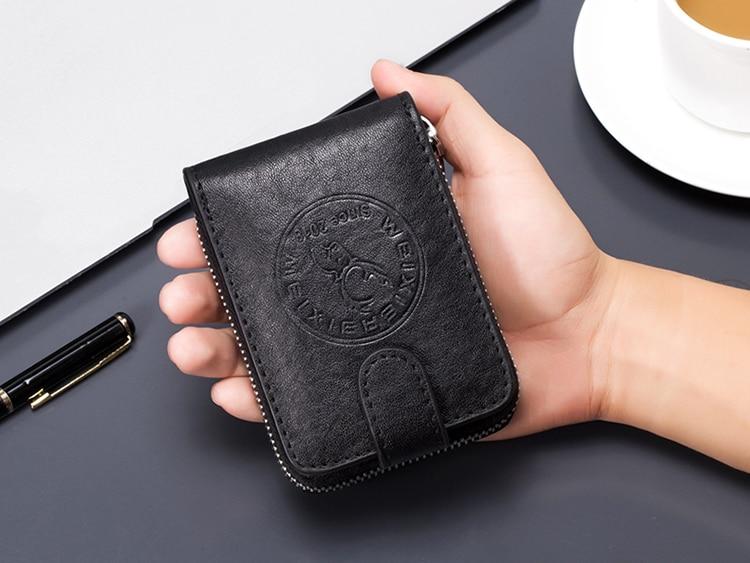 Многофункциональный мужской деловой бумажник для карт, противоугонная щетка, держатель для банковских карт, тонкий чехол для кредитных карт, карман для наличных денег